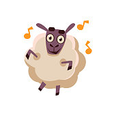 Sheep Dancing With Music