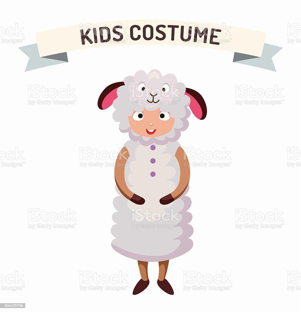 Sheep kid costume isolated vector illustration vector art illustration