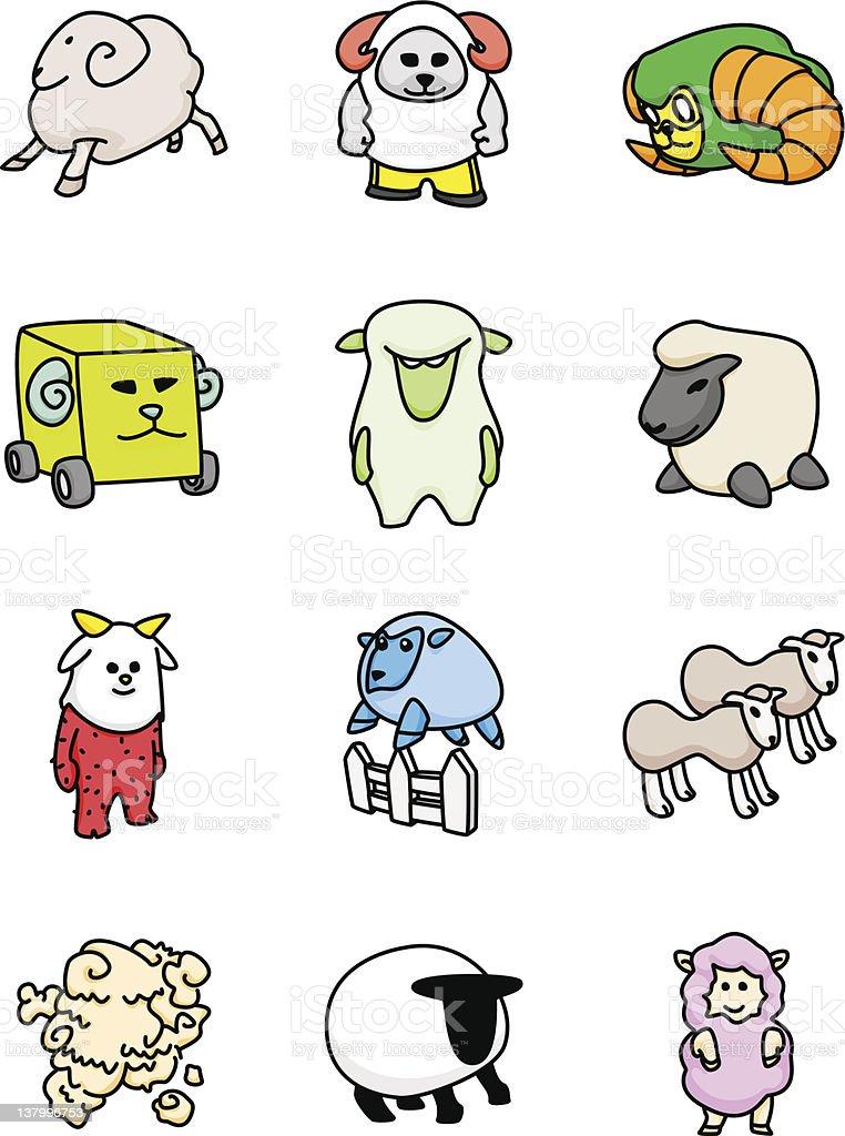 Sheep Mascots royalty-free stock vector art