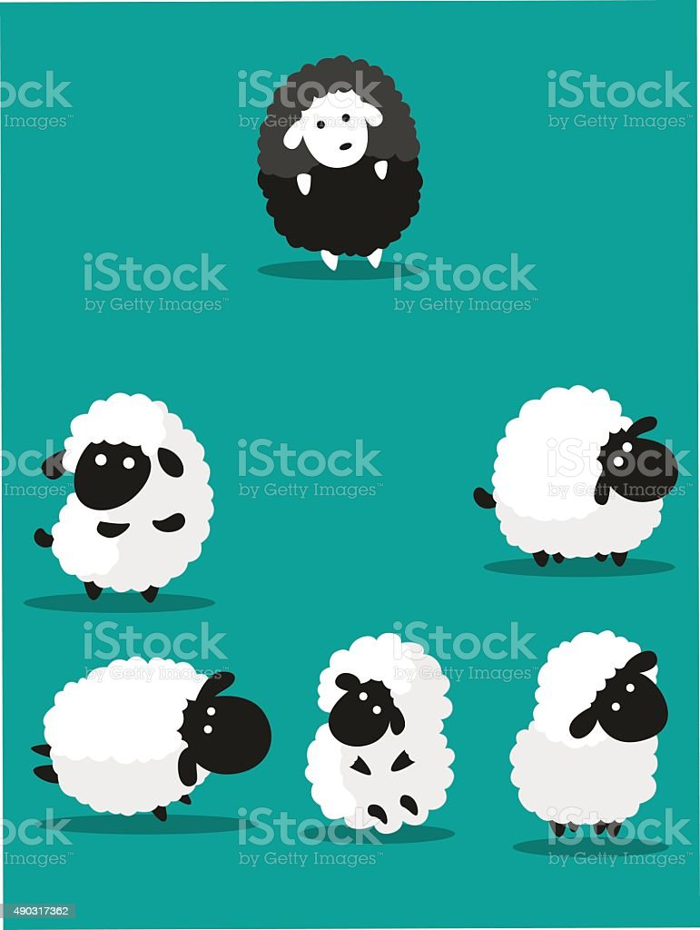sheep vector art illustration