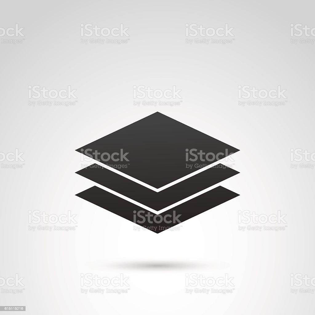 Sheet of paper vector icon. vector art illustration