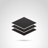 Sheet of paper vector icon.