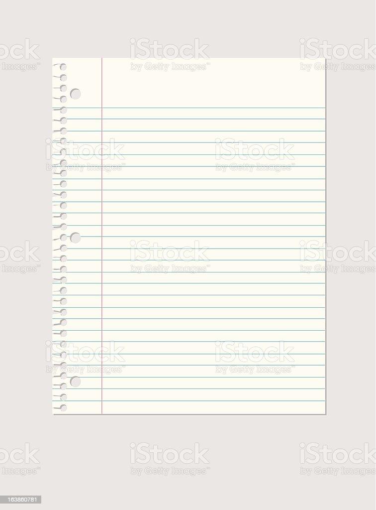 Sheet of Paper vector art illustration