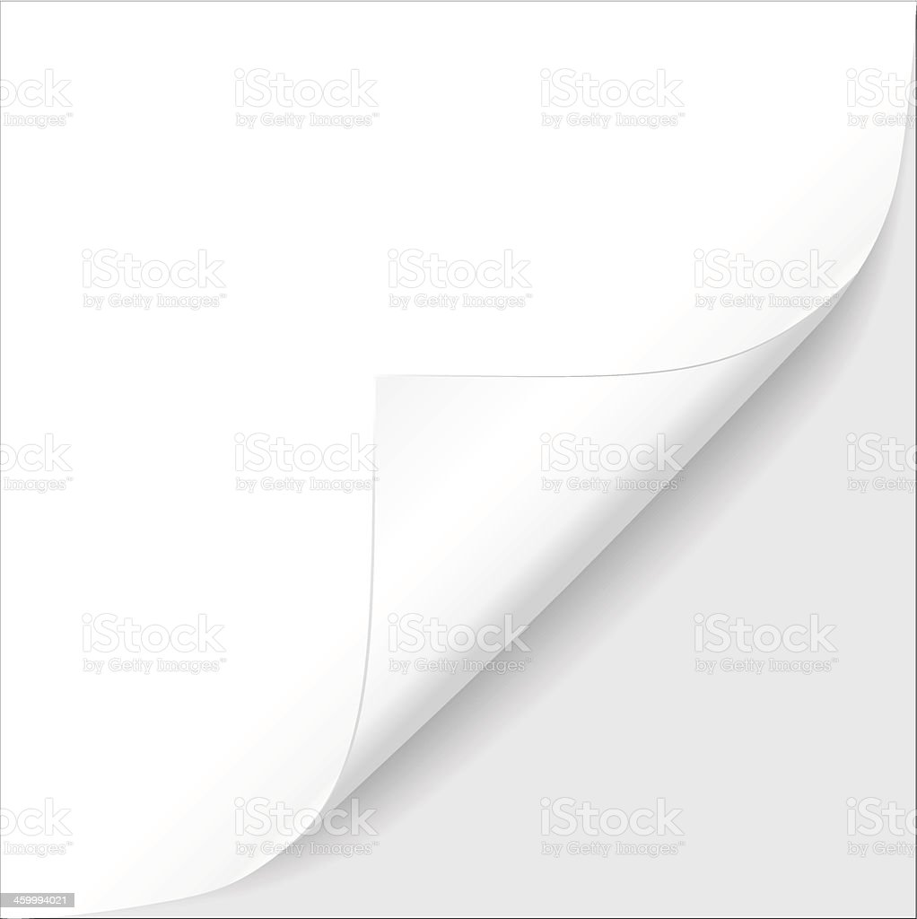 Sheet of paper. Vector illustration vector art illustration