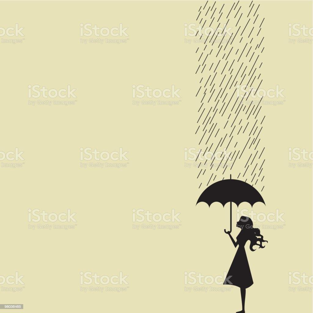 Sheet of rain royalty-free stock vector art