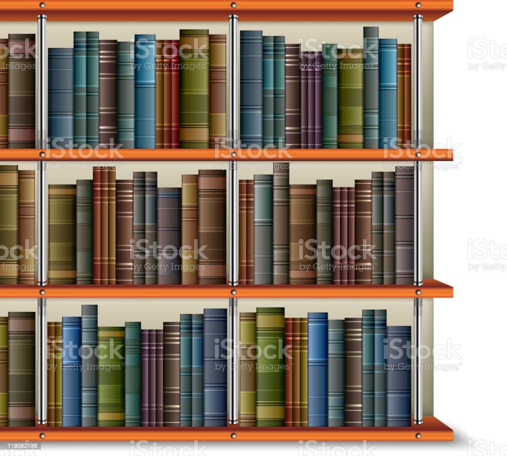 Shelf with books vector art illustration