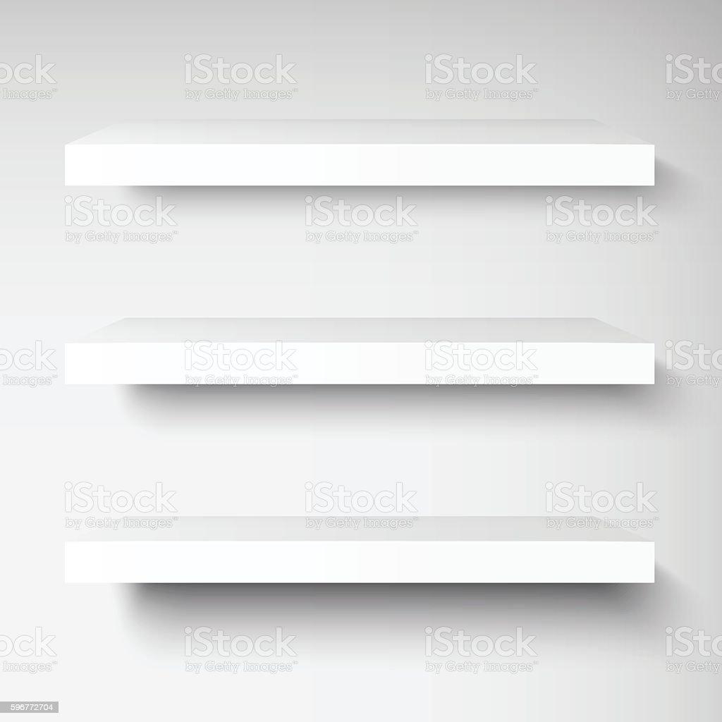 shelves template mockup vector art illustration