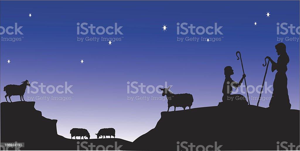 Shepherds Watch vector art illustration