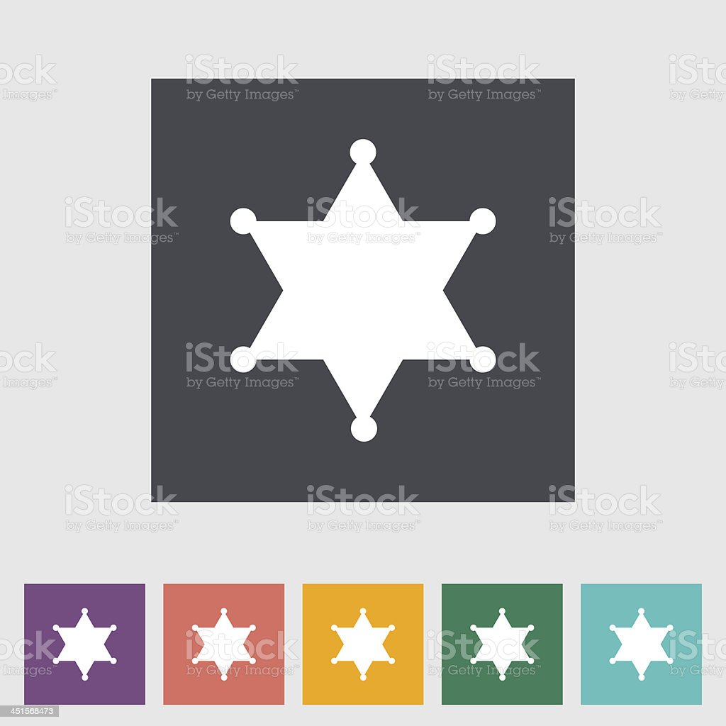 Sheriff badge decal template with multiple colors vector art illustration