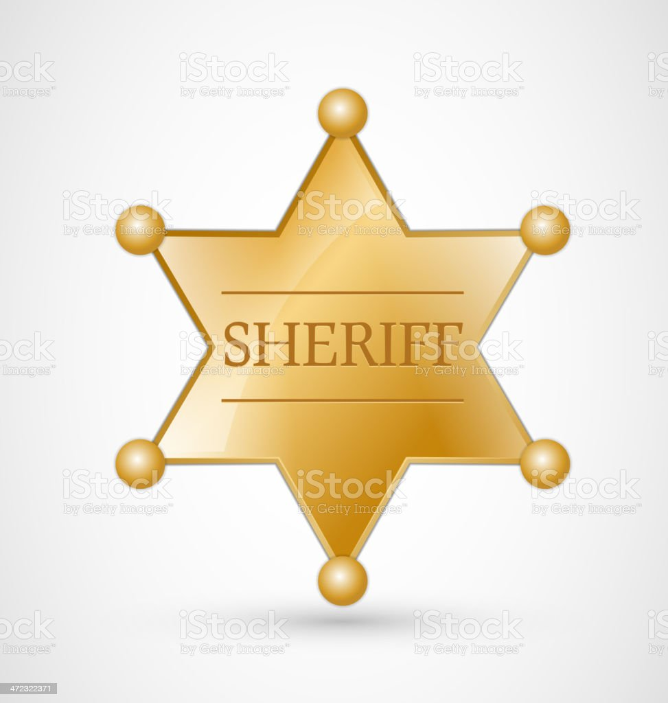 Sheriff Badge vector art illustration