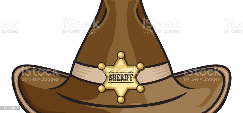 Sheriff hat royalty-free stock vector art