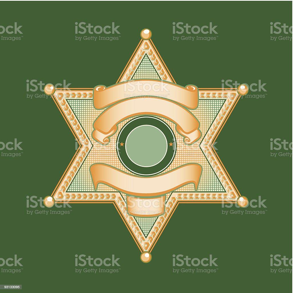 Sheriff or Police Badge vector art illustration