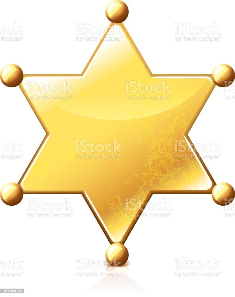 Sheriff star isolated on white vector vector art illustration