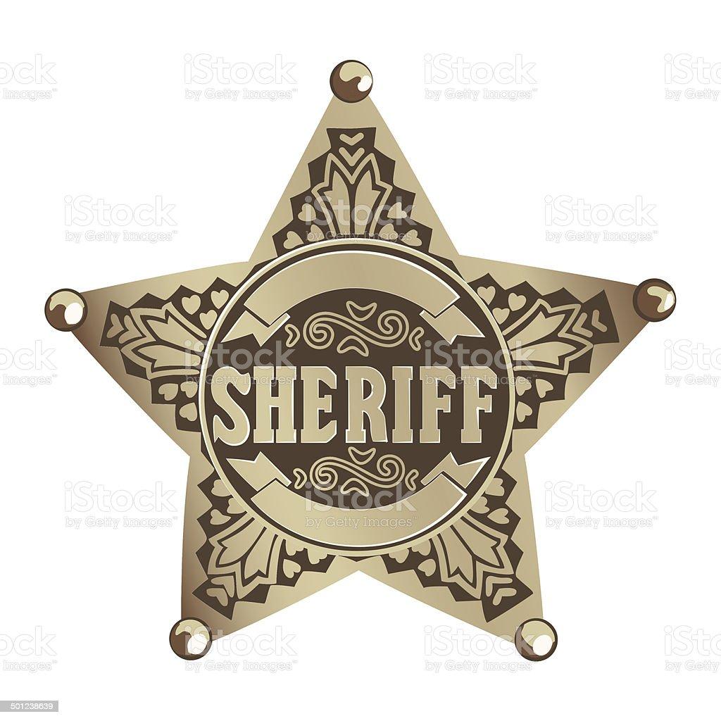 Sheriff star vector art illustration