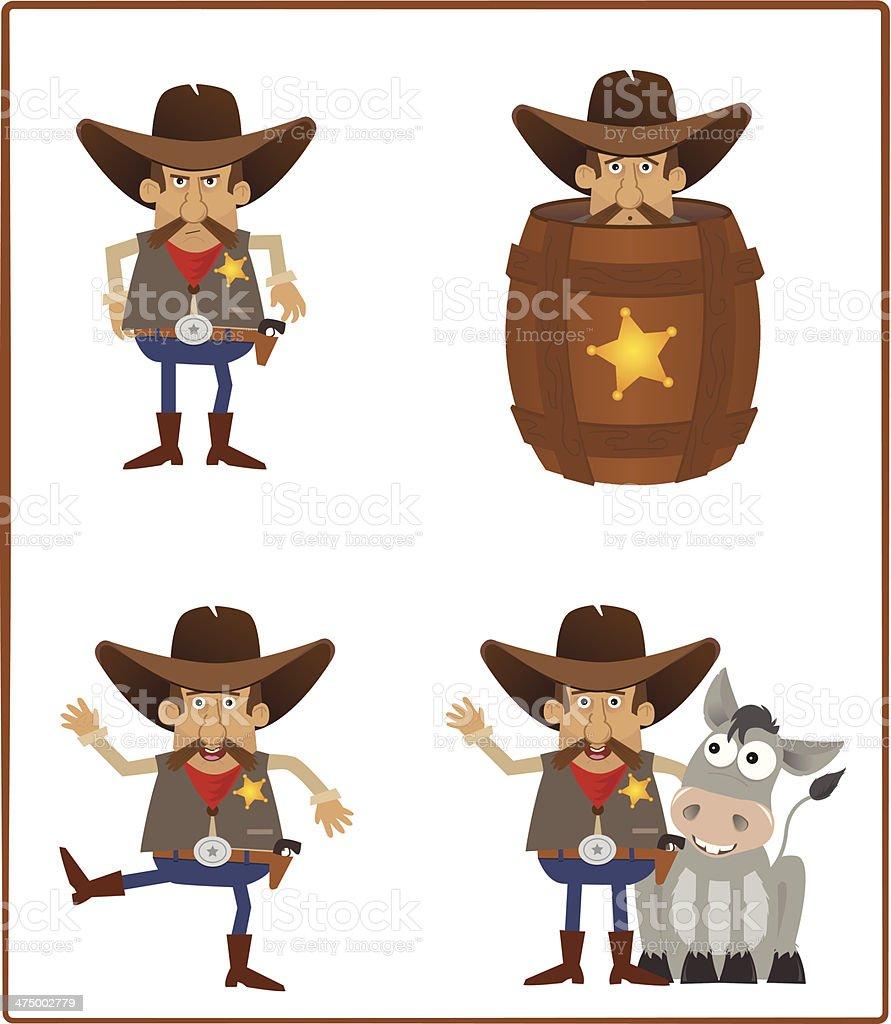 Sheriff royalty-free stock vector art