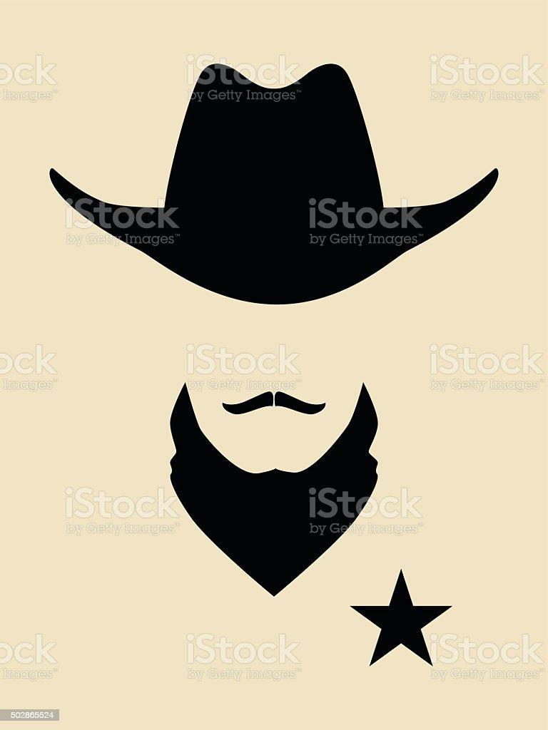 Sheriff vector art illustration