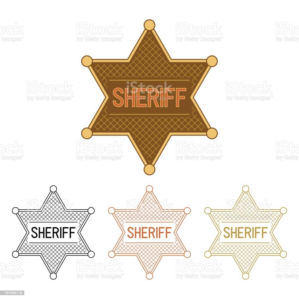 Sheriff's Star vector art illustration