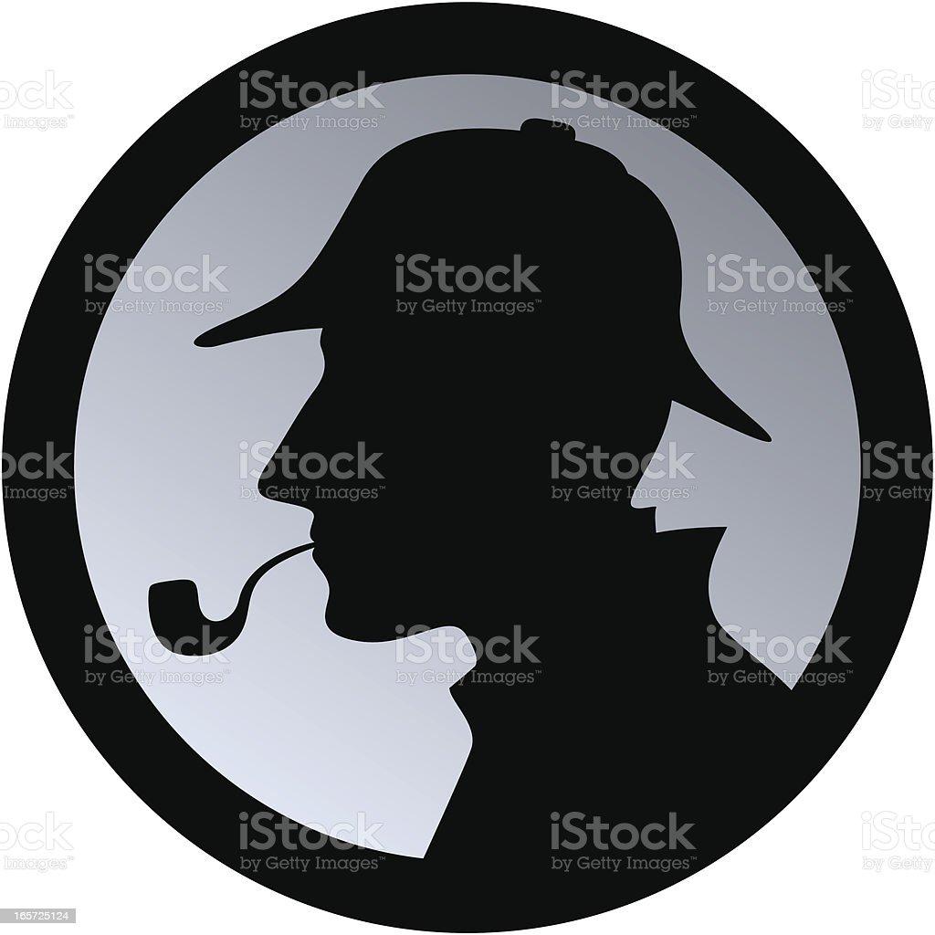 Sherlock Holmes / Detective royalty-free stock vector art