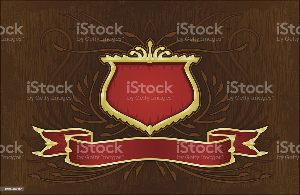 Shield and Banner royalty-free stock vector art