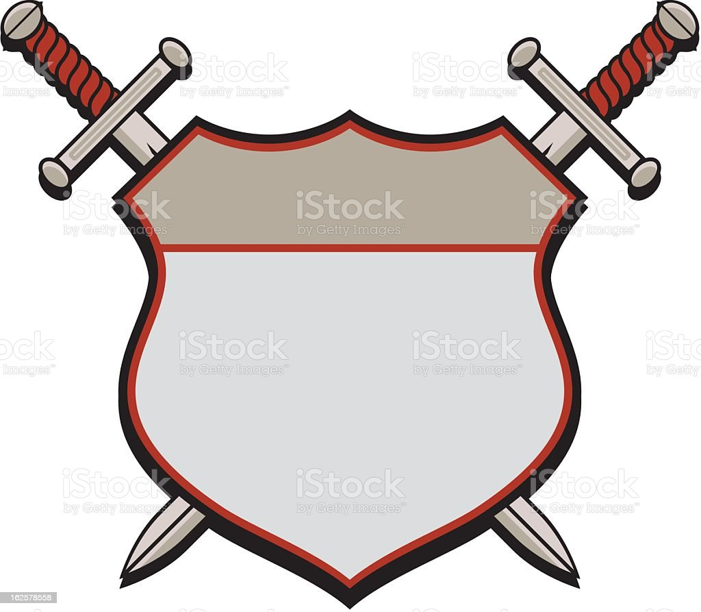 Shield and Swords royalty-free stock vector art