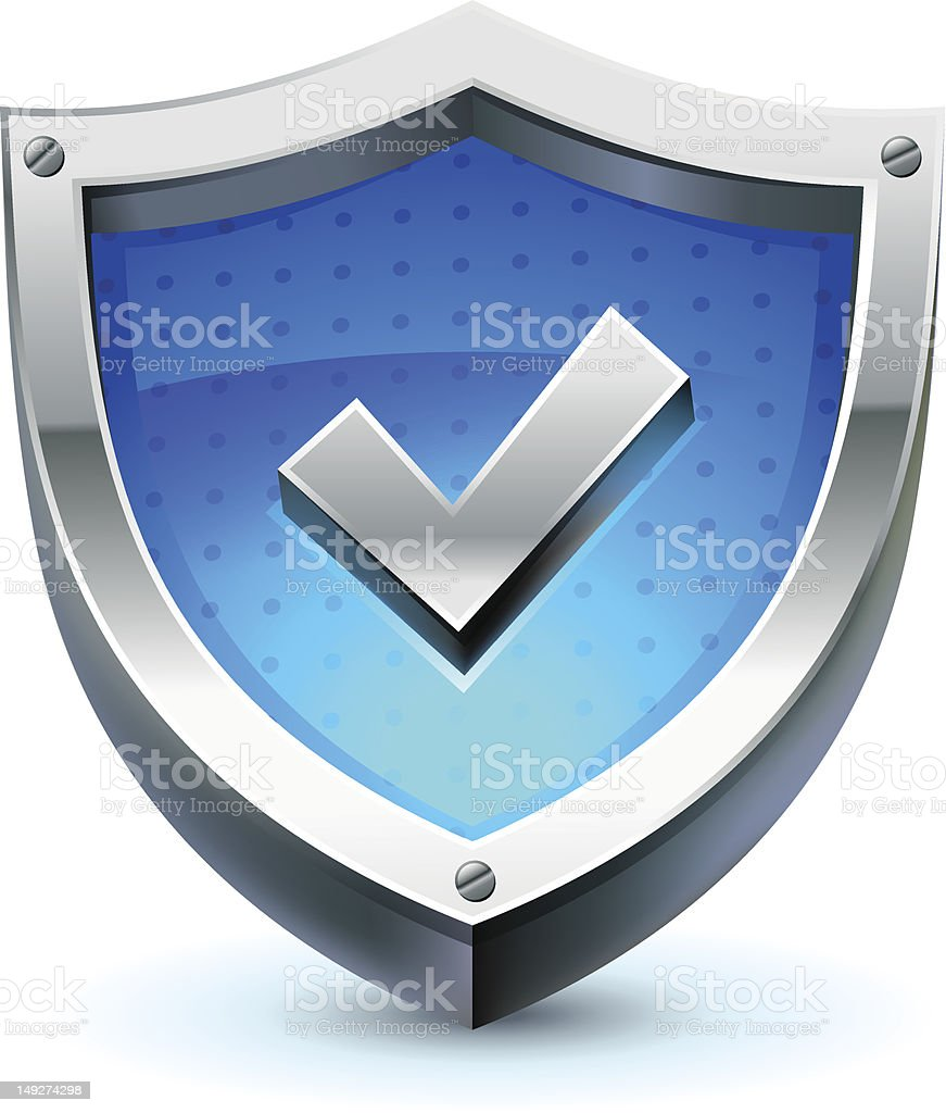 shield as protection icon royalty-free stock vector art