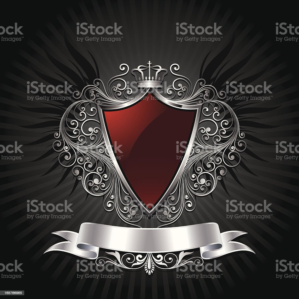 Shield background vector art illustration