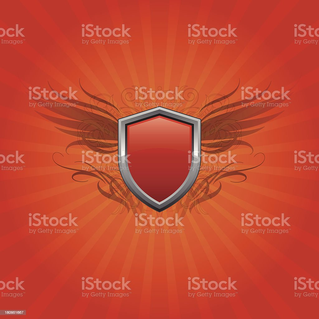 Shield background royalty-free stock vector art
