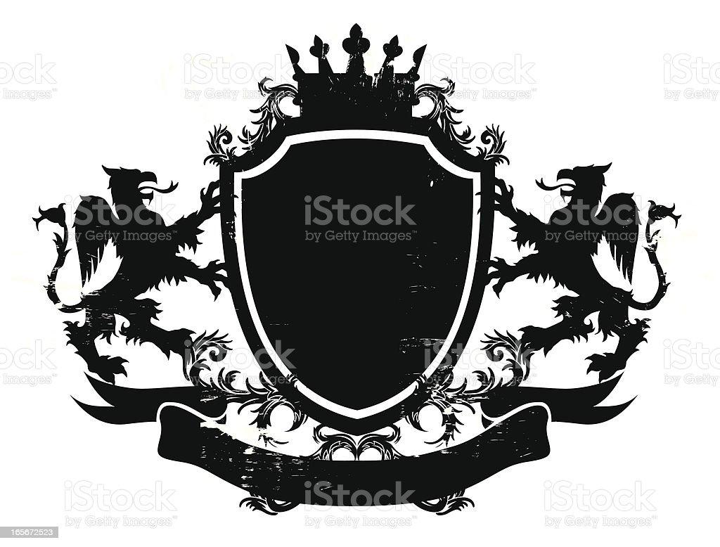 shield design vector art illustration