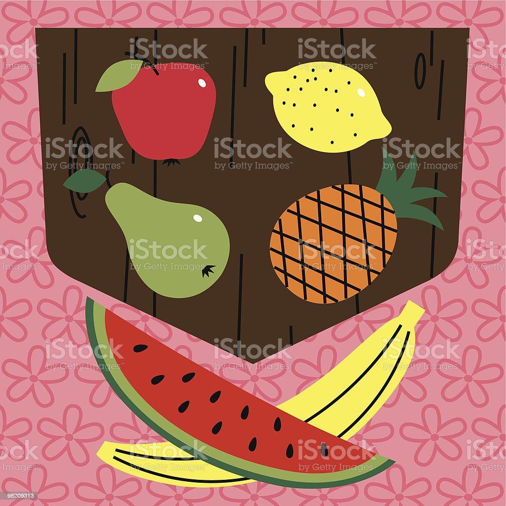 Shield Fruits. vector art illustration