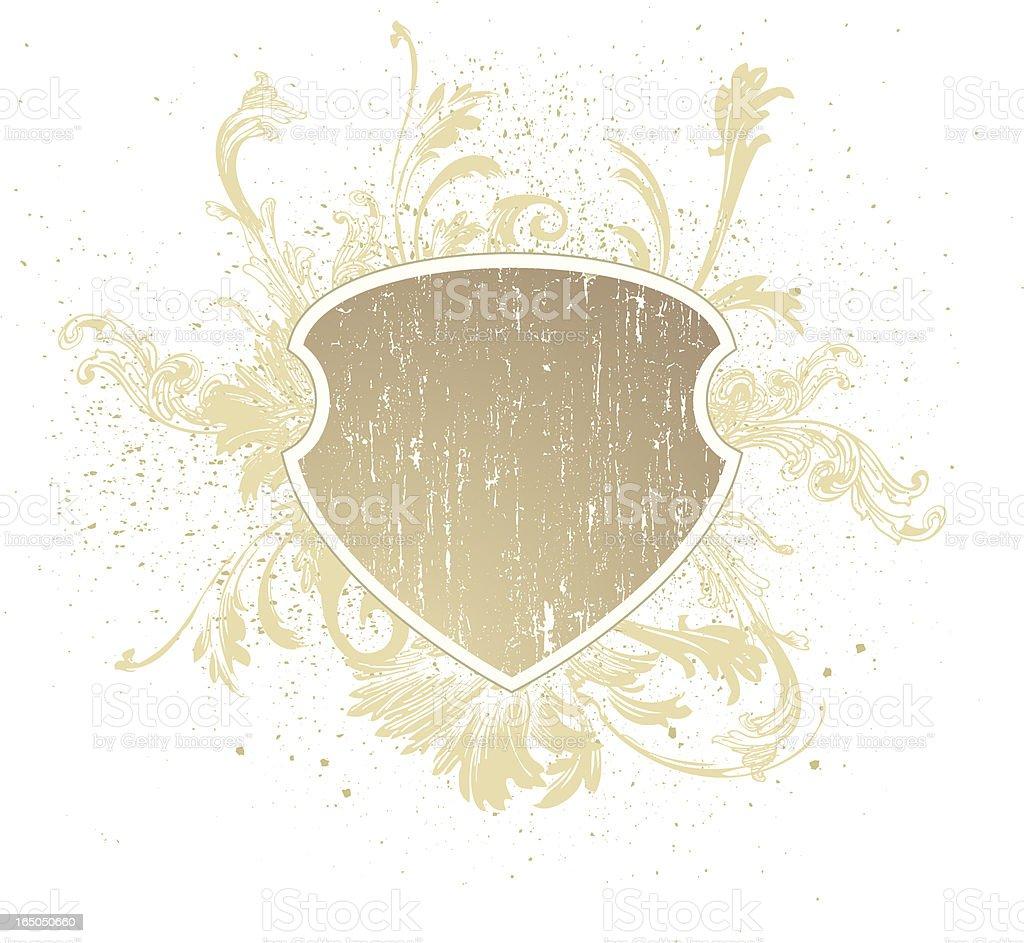 Shield Grunge royalty-free stock vector art