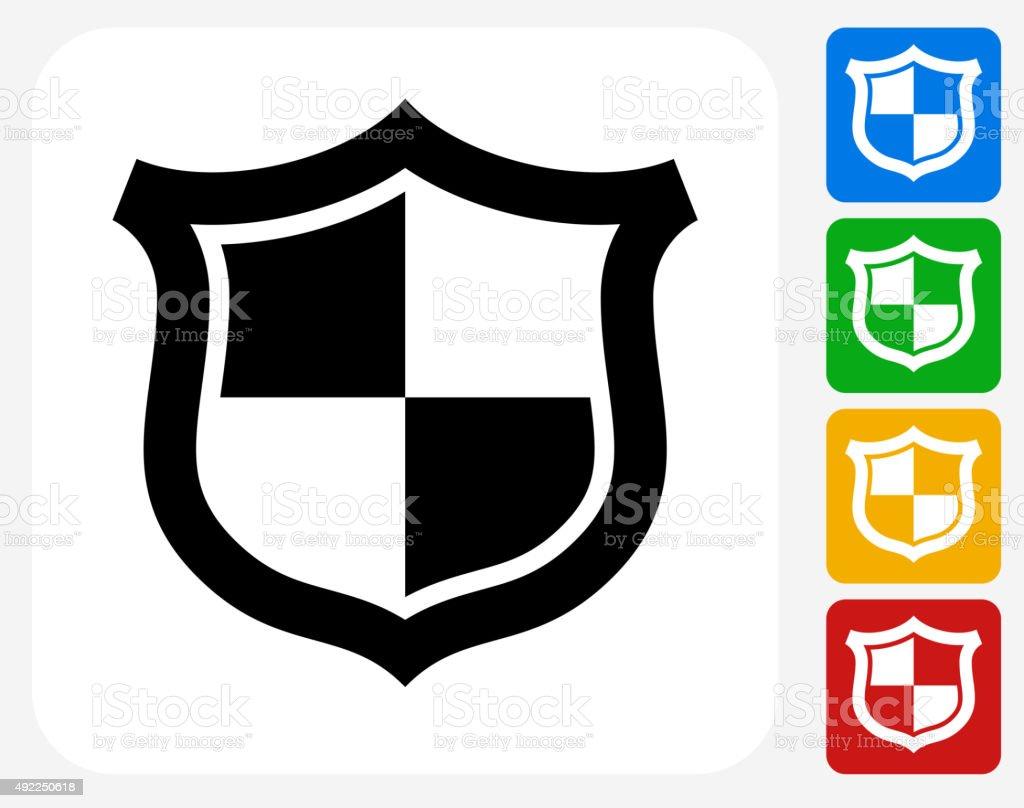 Shield Icon Flat Graphic Design vector art illustration