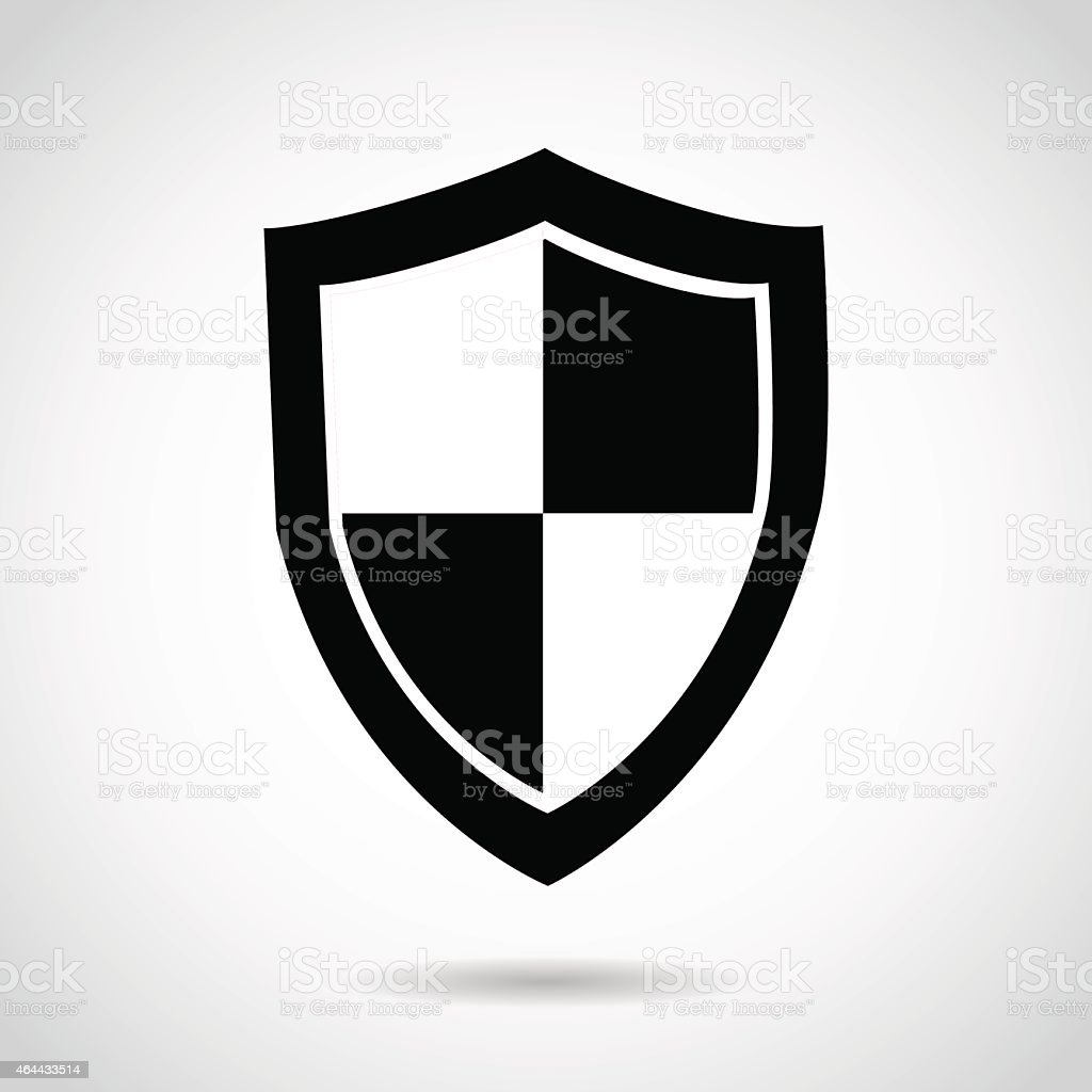 Shield icon isolated on white background. vector art illustration