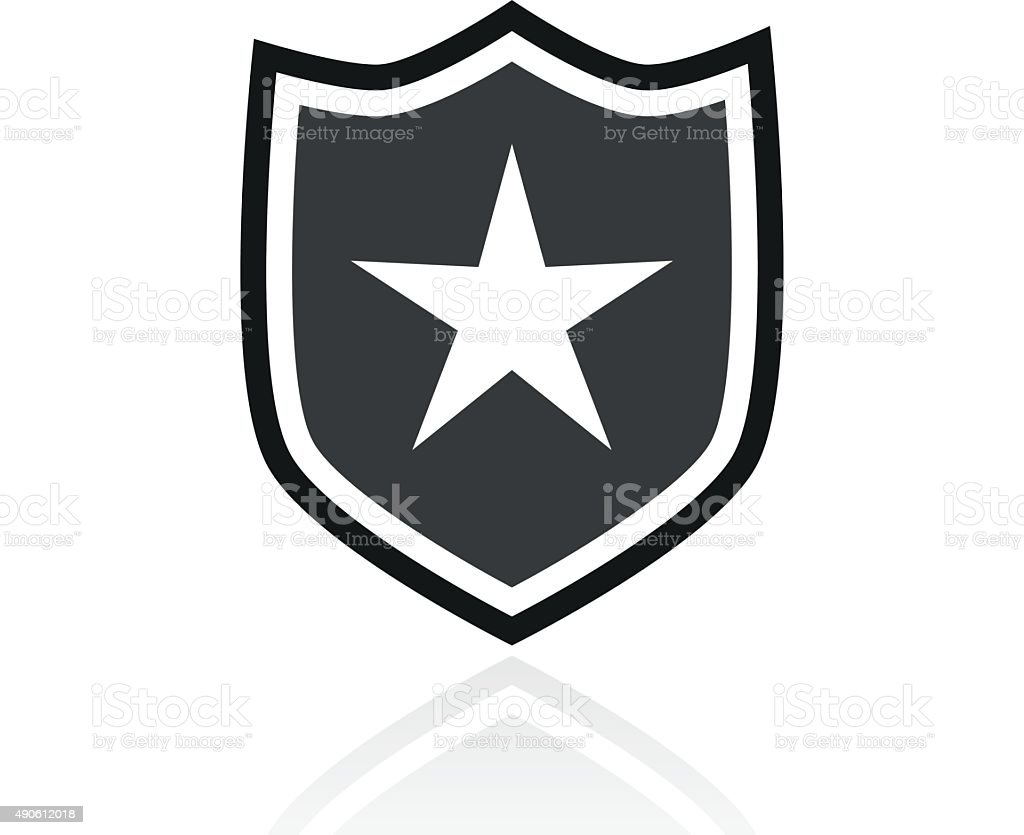 Shield icon on a white background. - PrimeSeries vector art illustration