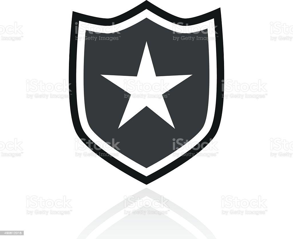 Shield icon on a white background. - PrimeSeries vector art illustration