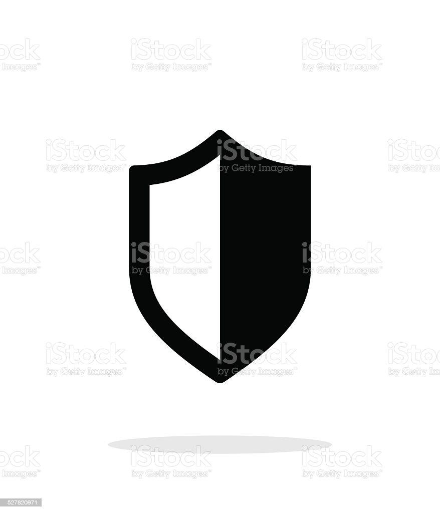 Shield icon on white background. vector art illustration