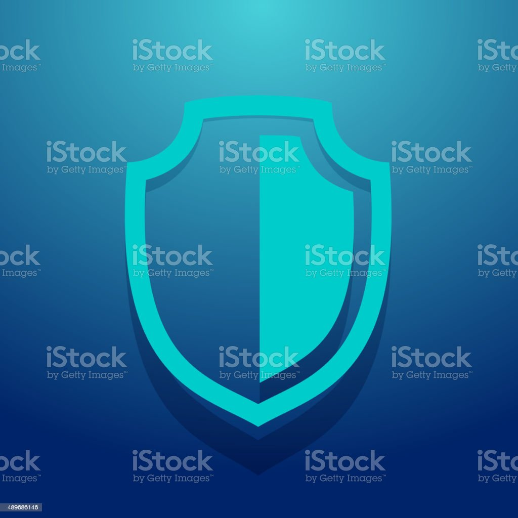 Shield Icon vector art illustration