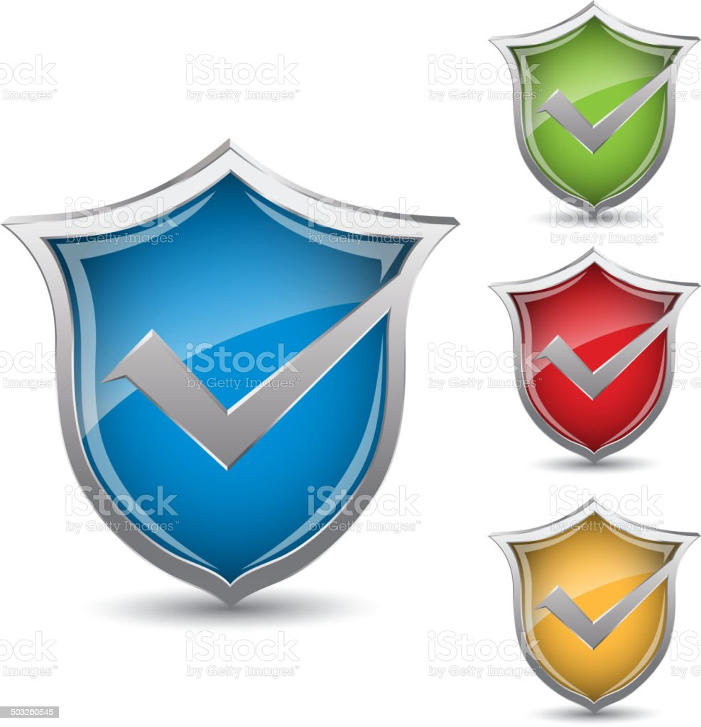 Shield icon royalty-free stock vector art