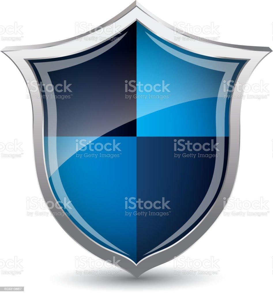Shield icon royalty-free stock vector art