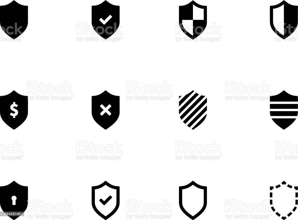 Shield icons royalty-free stock vector art