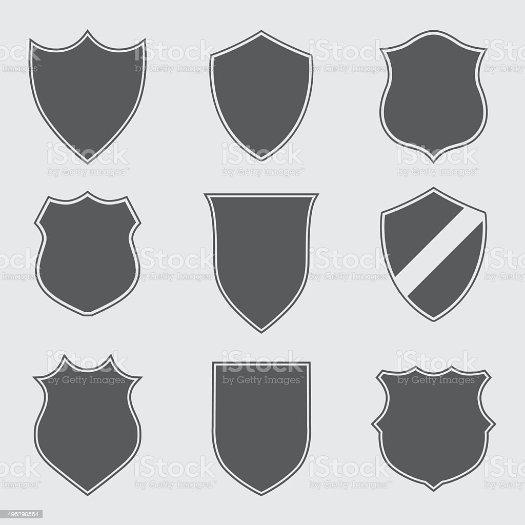 Shield Icons vector art illustration