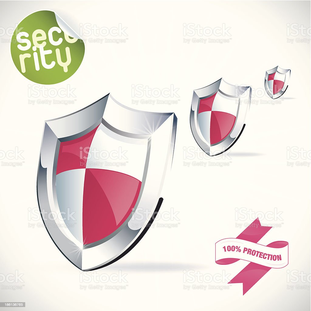 Shield Illustration royalty-free stock vector art