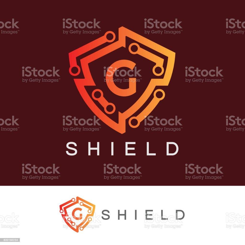 Shield initial Letter G icon design vector art illustration
