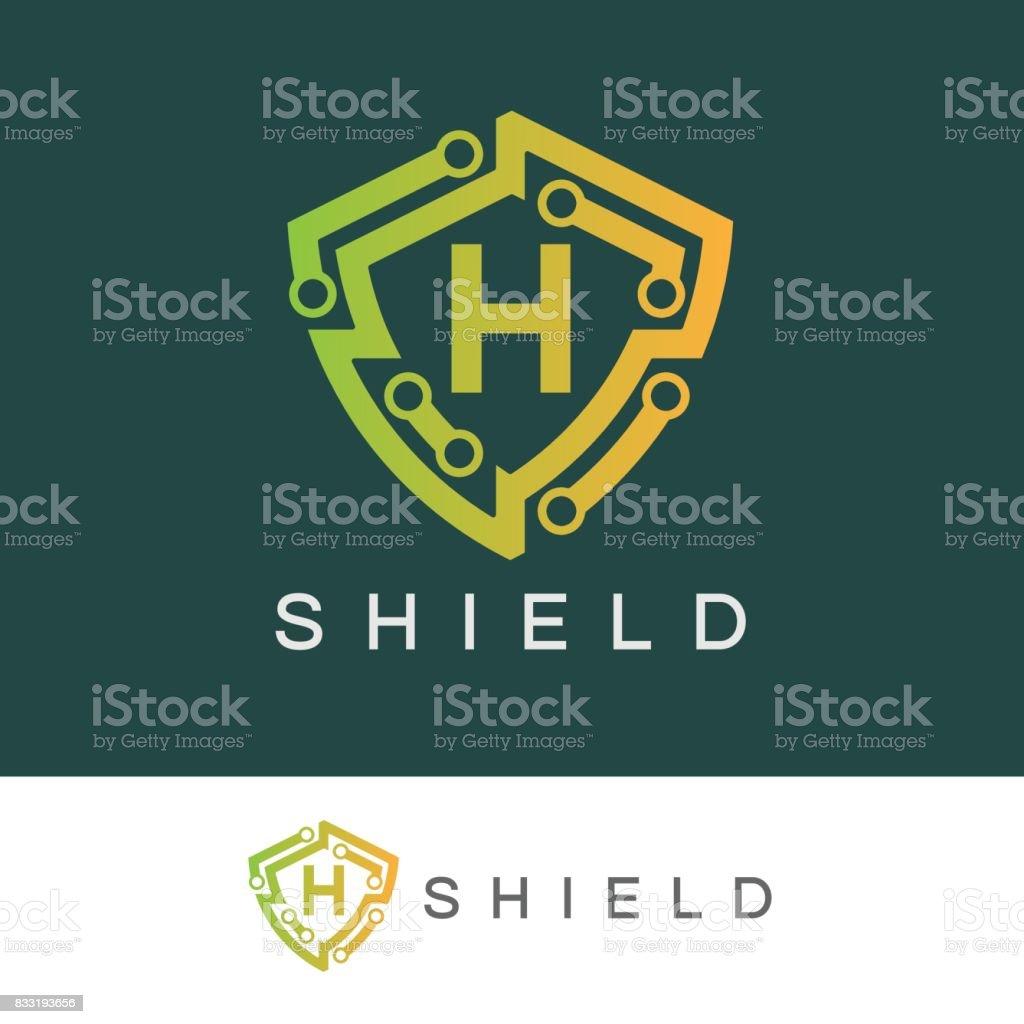 Shield initial Letter H icon design vector art illustration