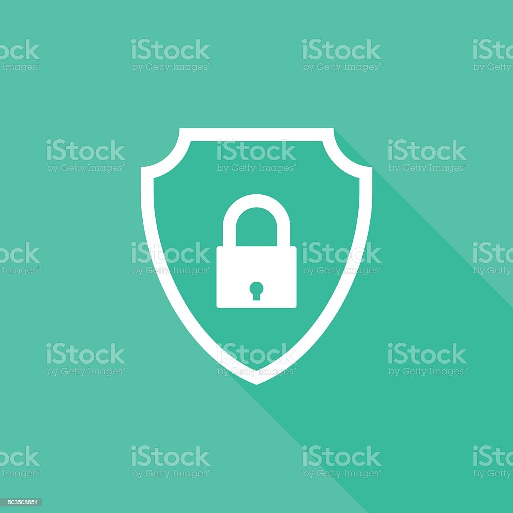 shield lock icon vector art illustration