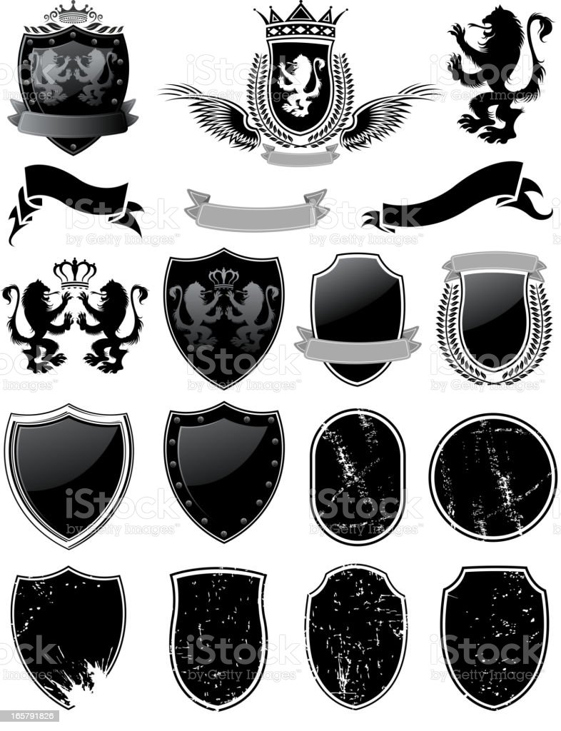 shield materials royalty-free stock vector art