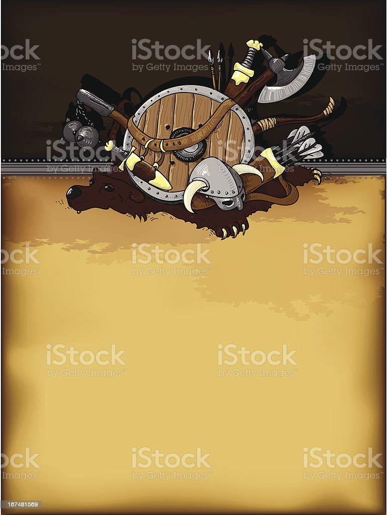 shield medieval hand drawing royalty-free stock vector art
