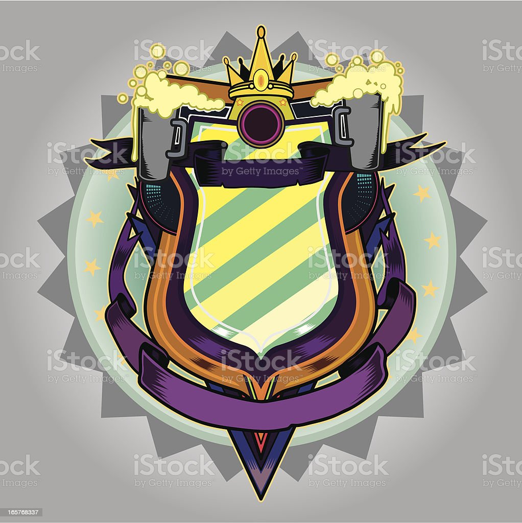 Shield of beers royalty-free stock vector art