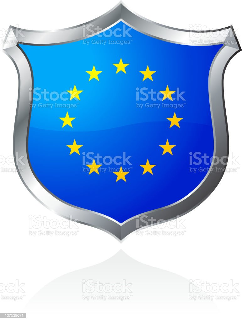 Shield of European Union royalty-free stock vector art