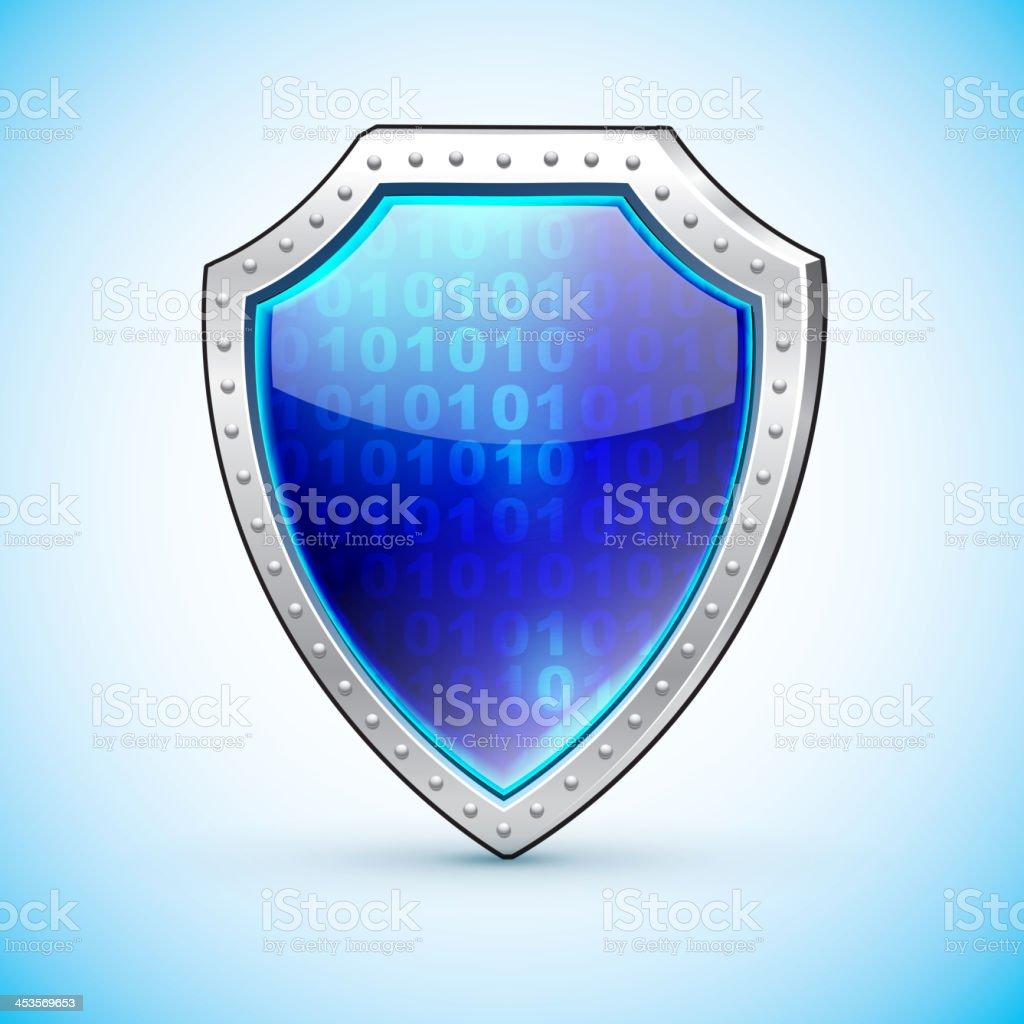 Shield protection symbol. Safety emblem royalty-free stock vector art