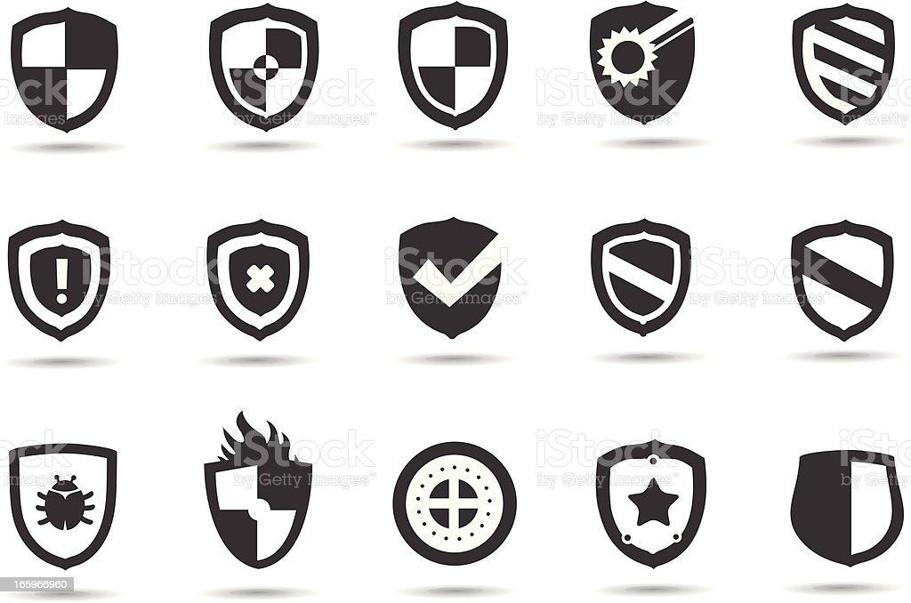Shield Symbols royalty-free stock vector art